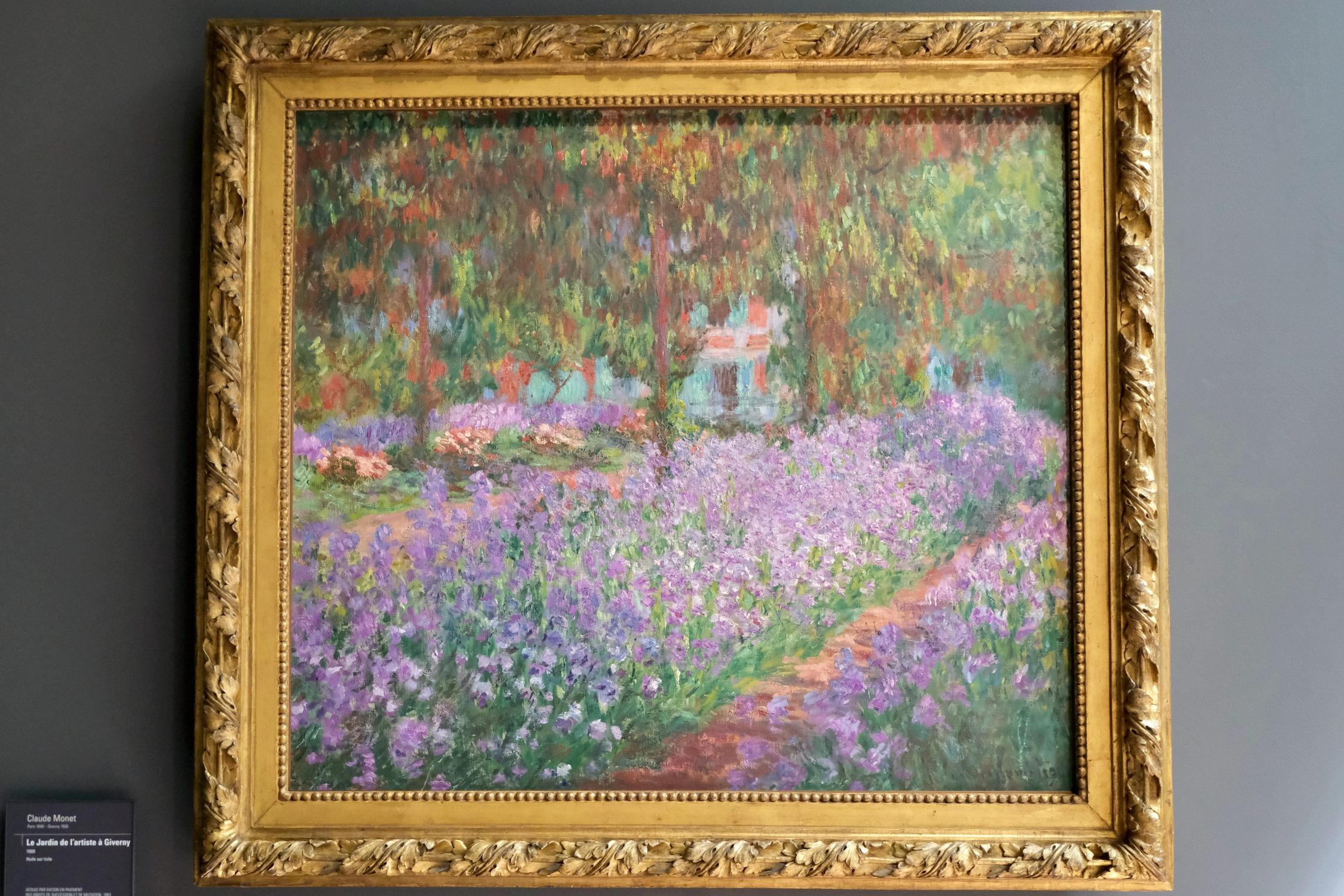 Monet purple flowers