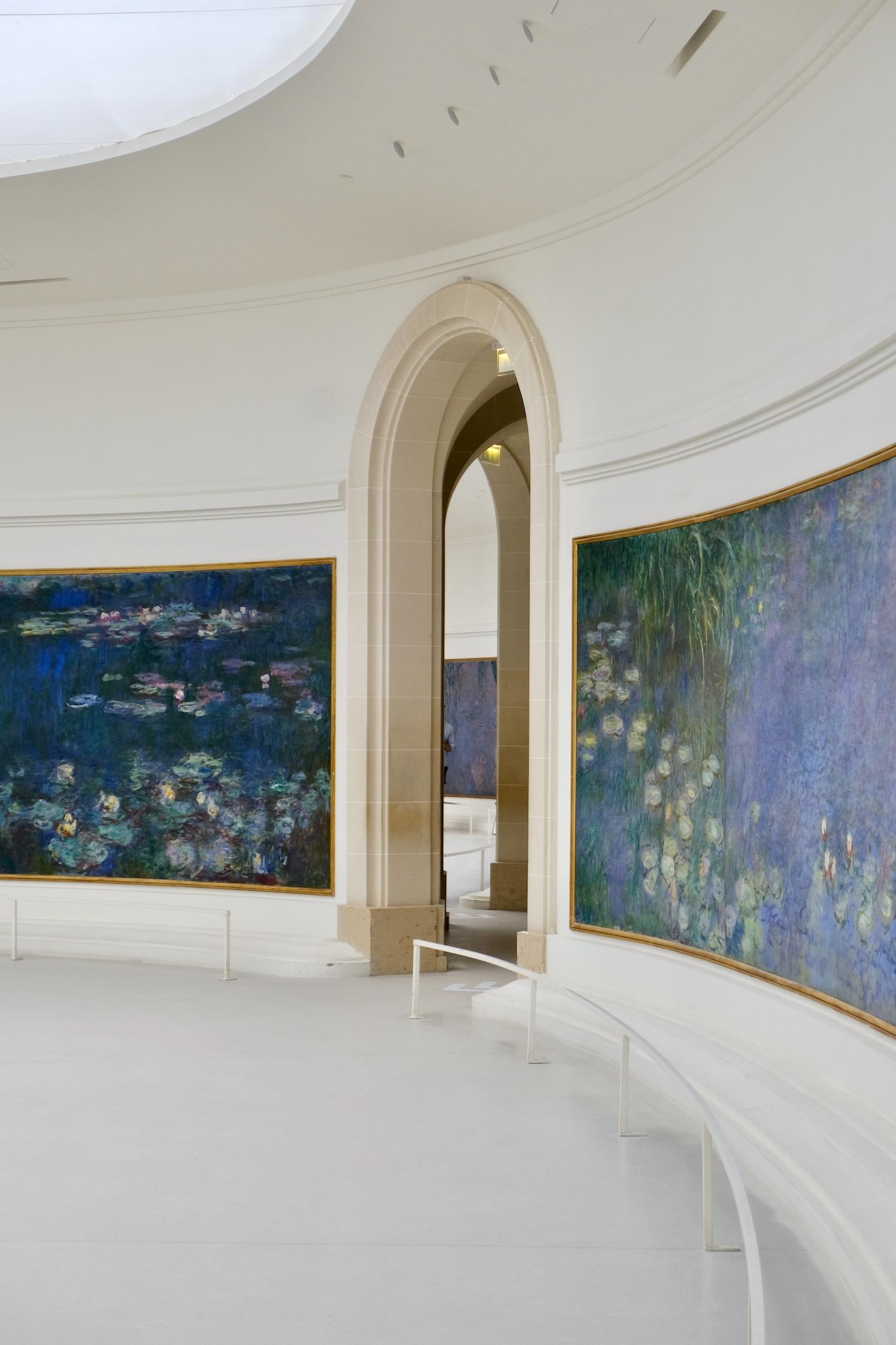 room in Musée de l'Orangerie, one of the best small museums in Paris