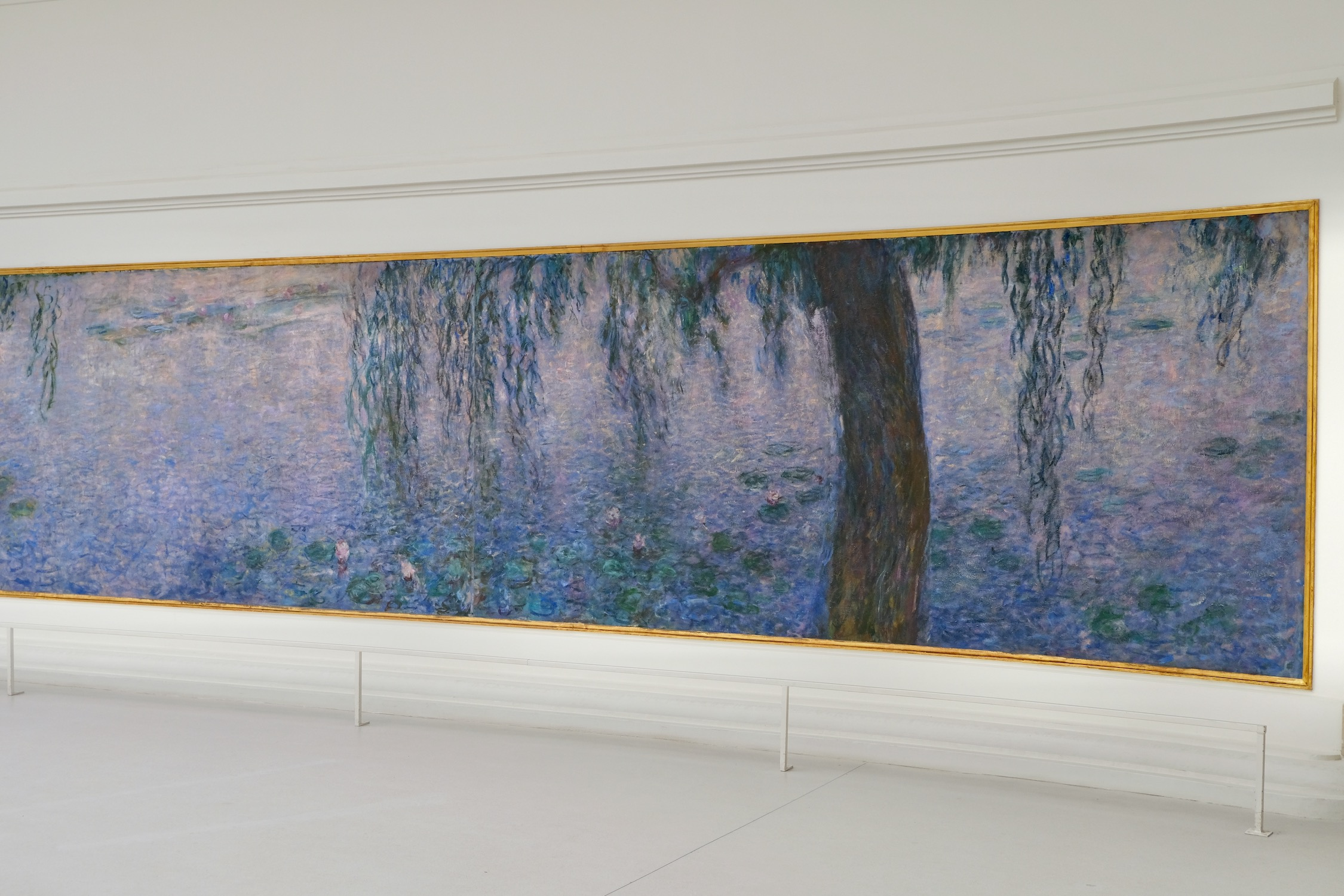 Monet's water lilies and willow tree