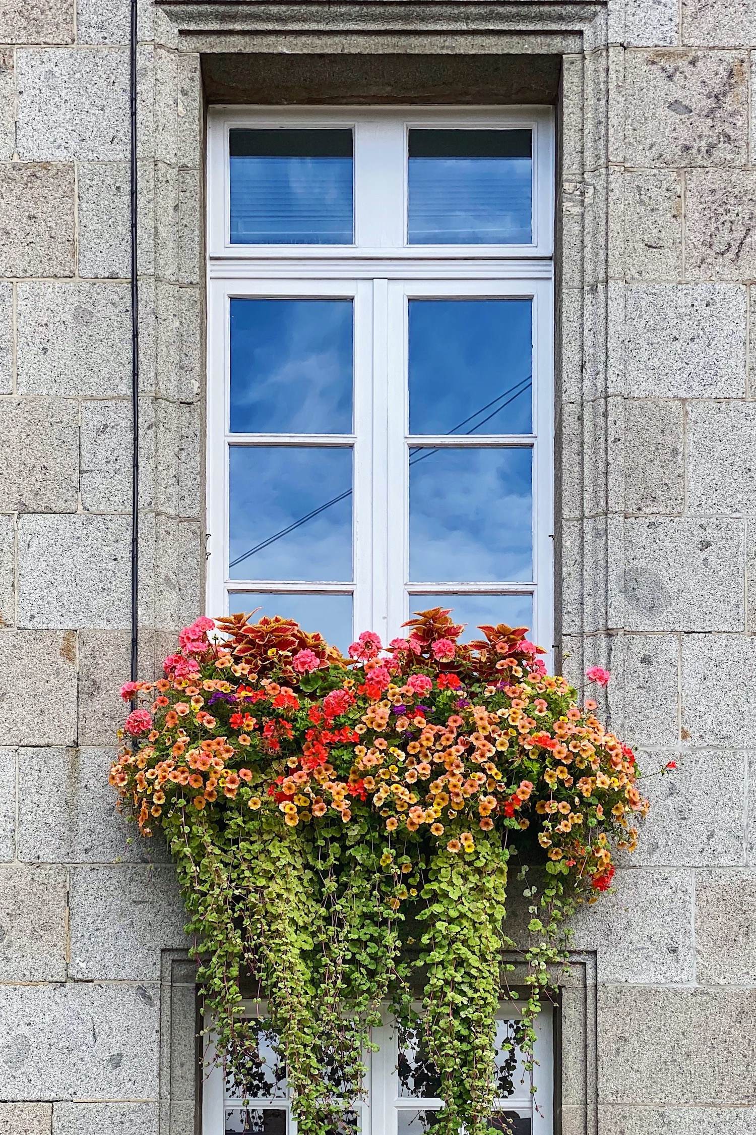 normandy weekend trip with window boxes in Avranches
