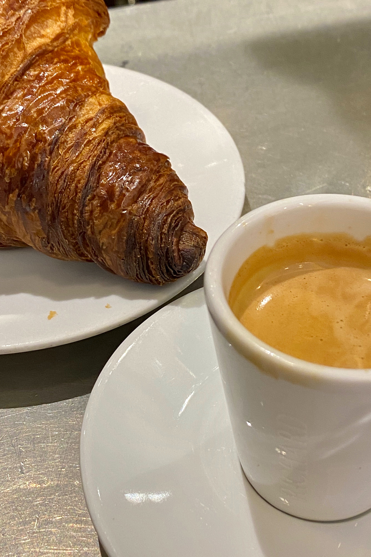 Sunday Morning Coffee and Croissants in Paris