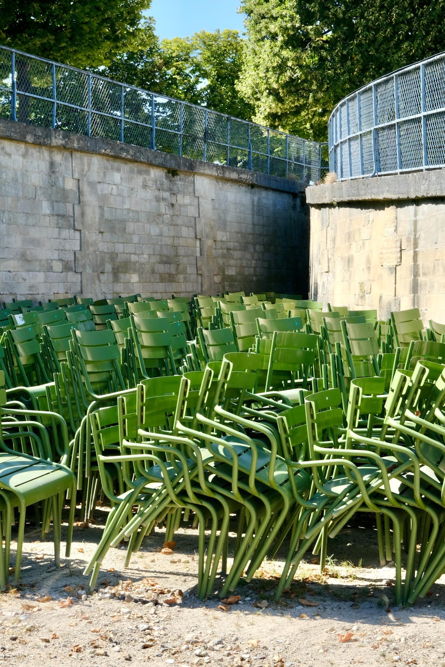 Paris green chairs
