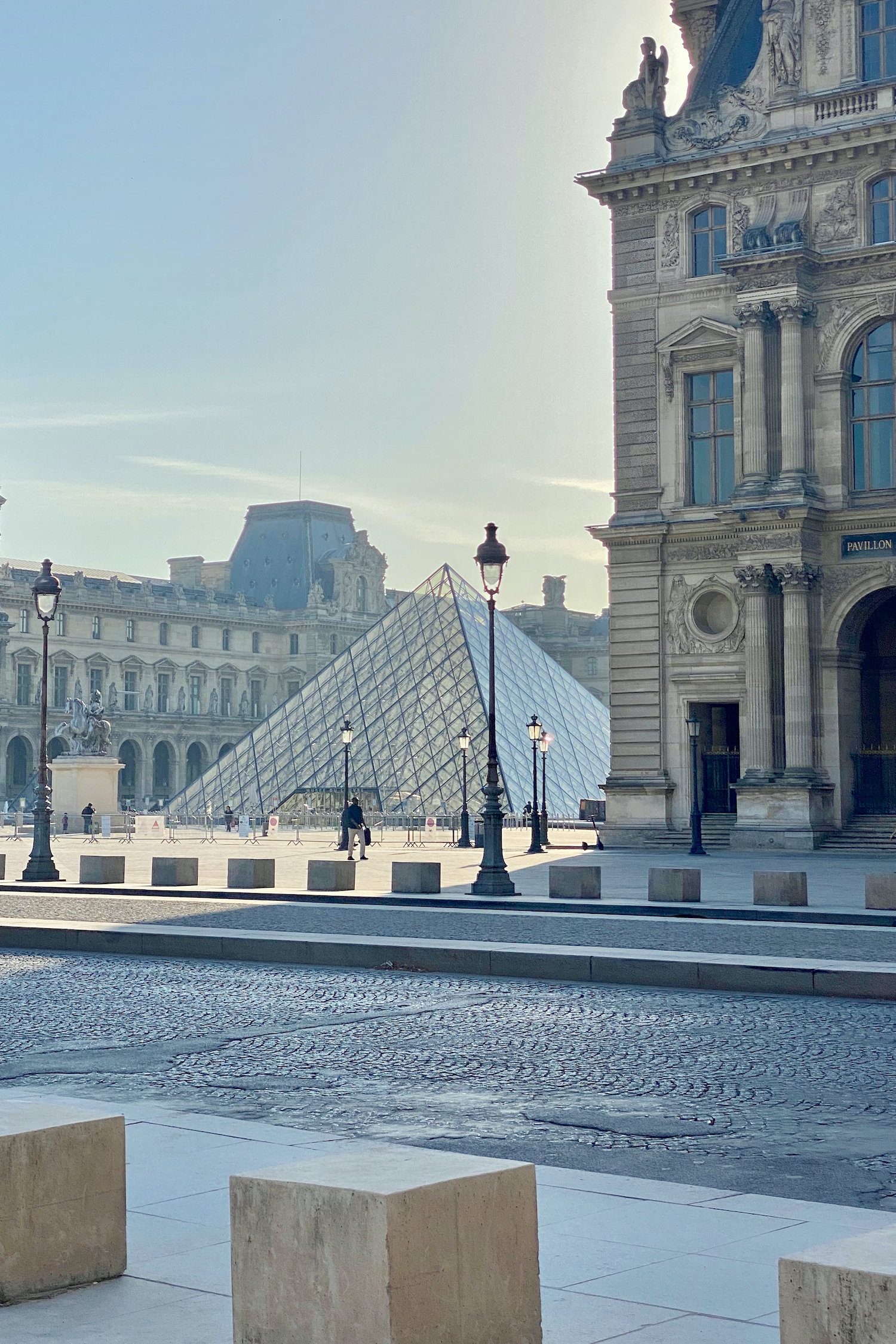 Morning at the Louvre