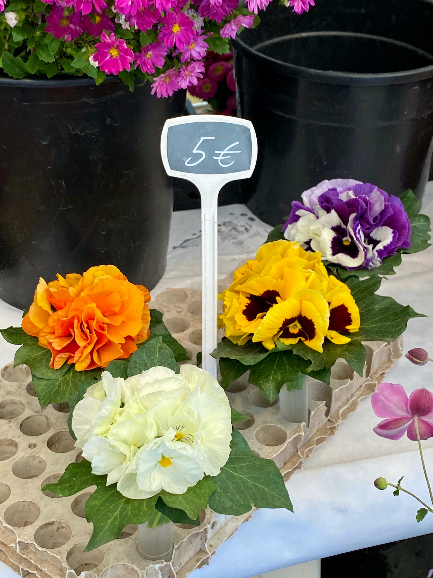 market mini flower arrangements