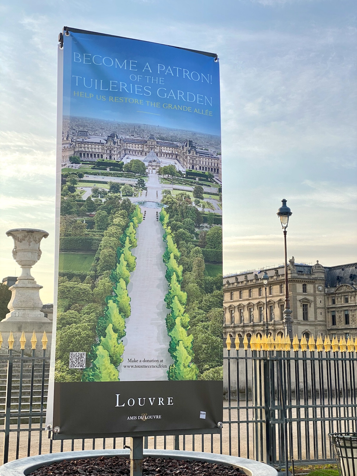 How to sponsor a tree or bench at the Jardin des Tuileries