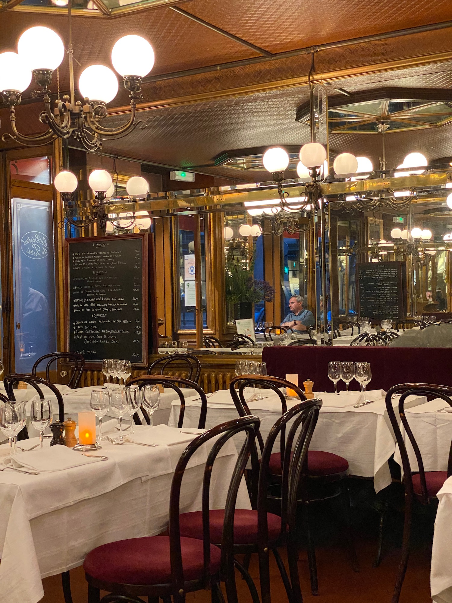 Top Five Classic French restaurants in Paris Bistrot de Paris interior