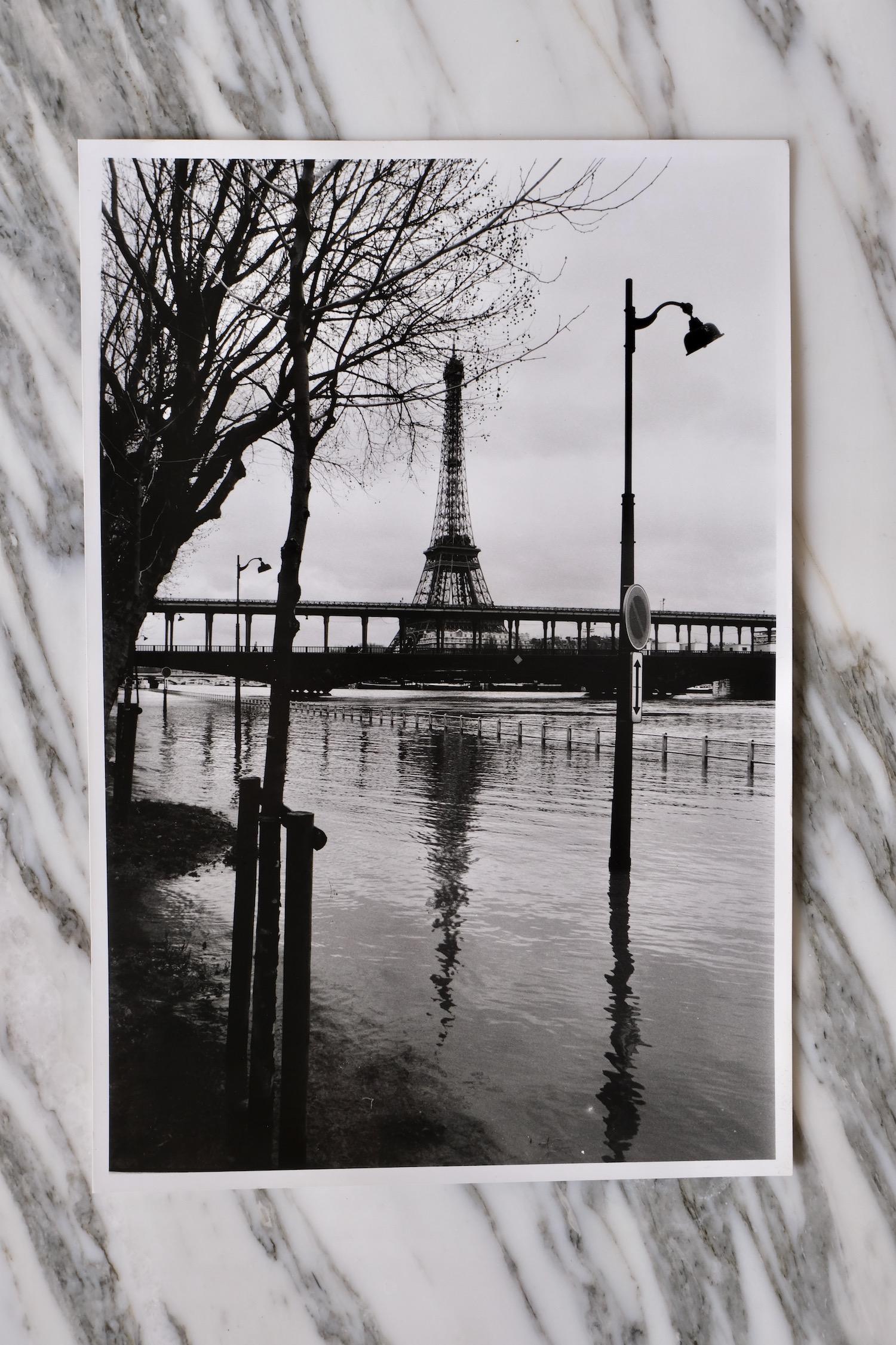 eiffel tower flood photograph