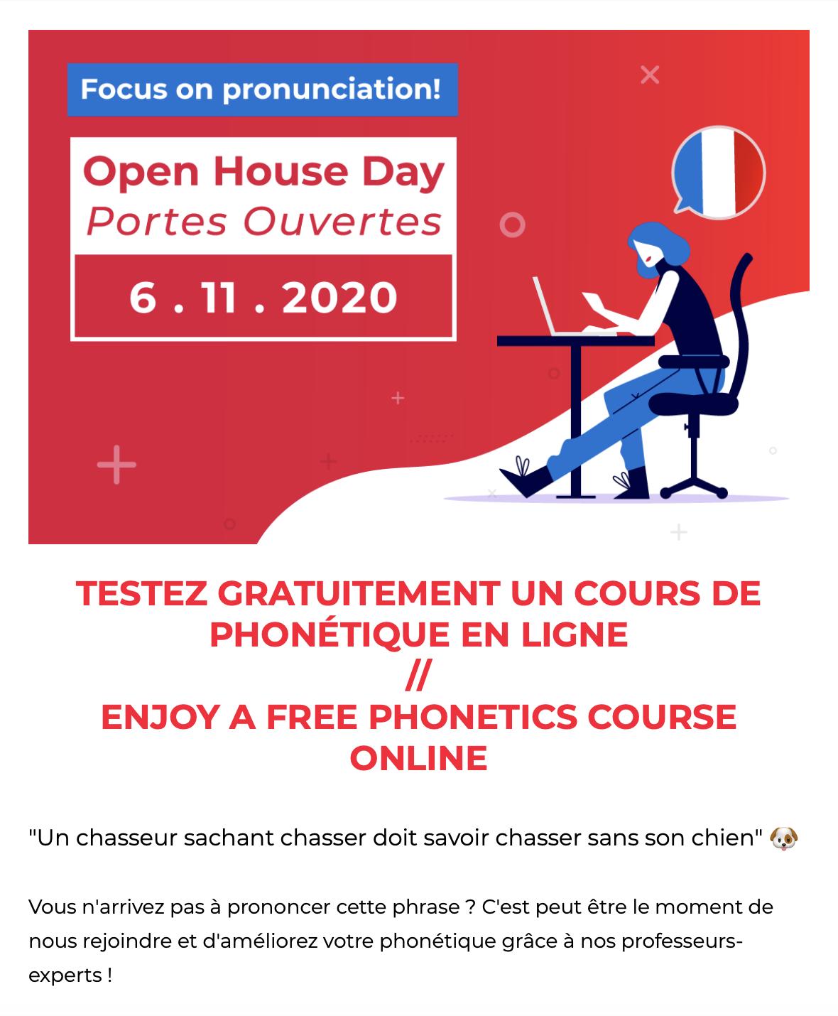 pronunciation workshop from Alliance Française