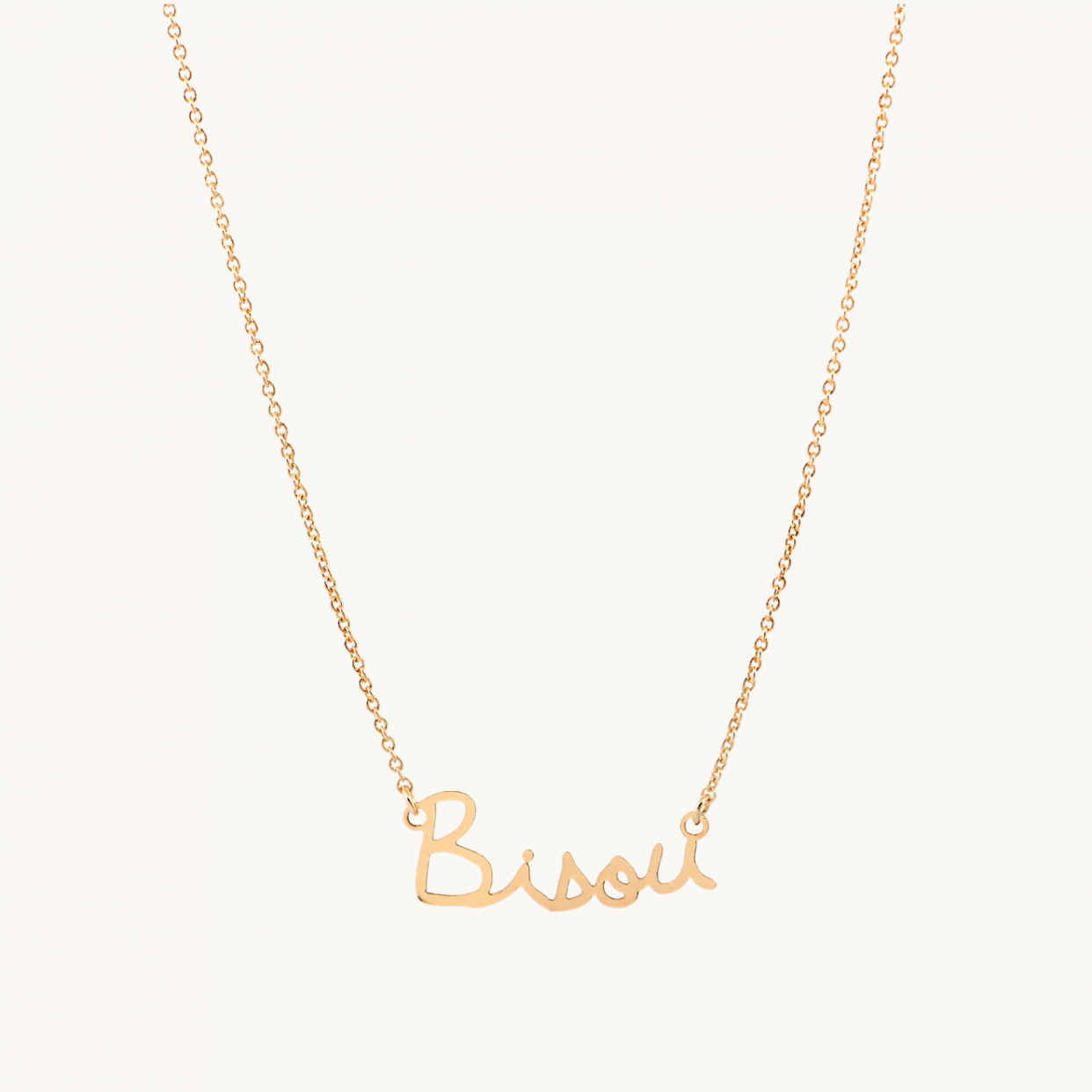 French Face Bisou Necklace