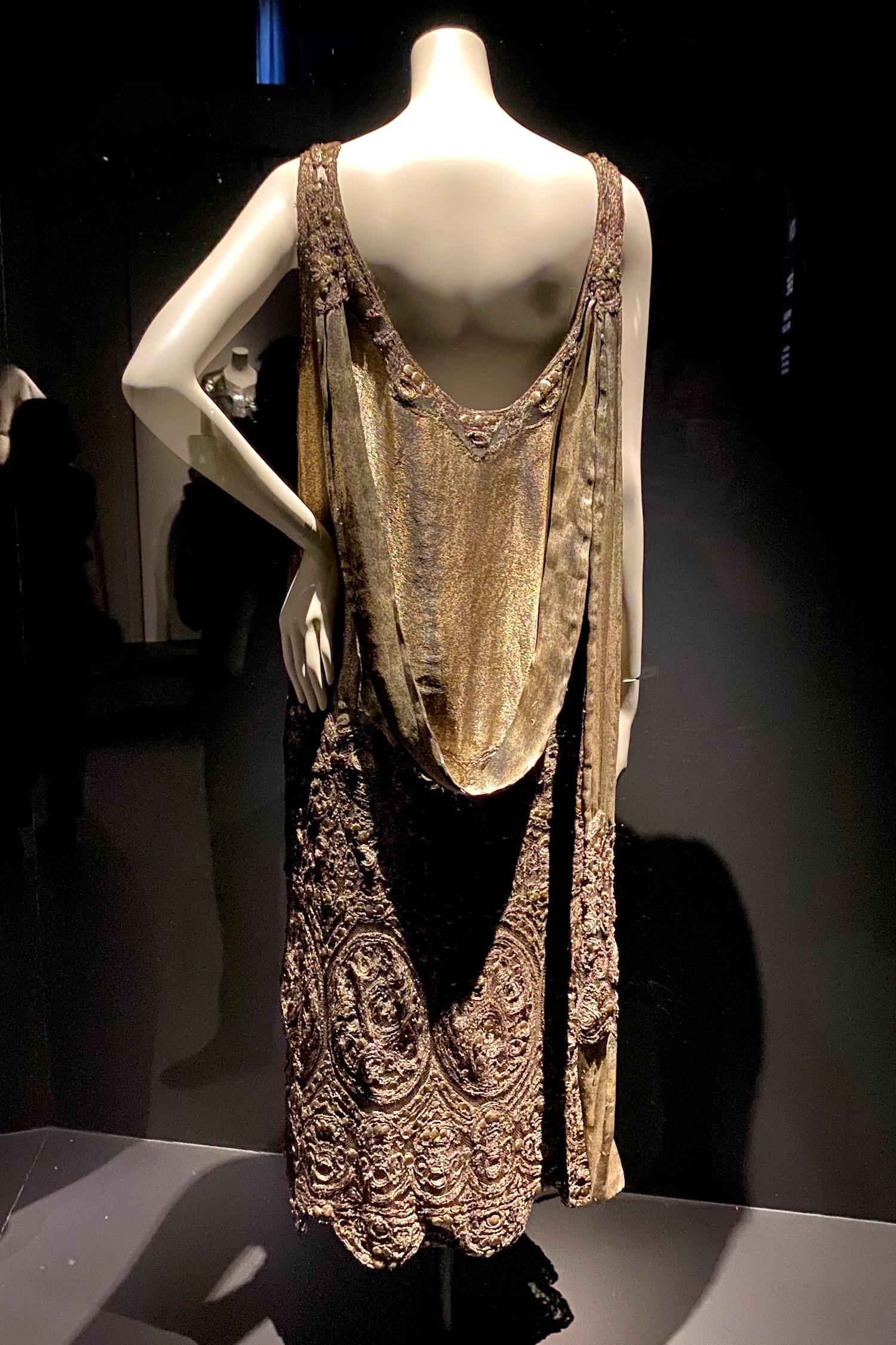 gold gown Gabrielle Chanel Fashion Manifesto exhibit