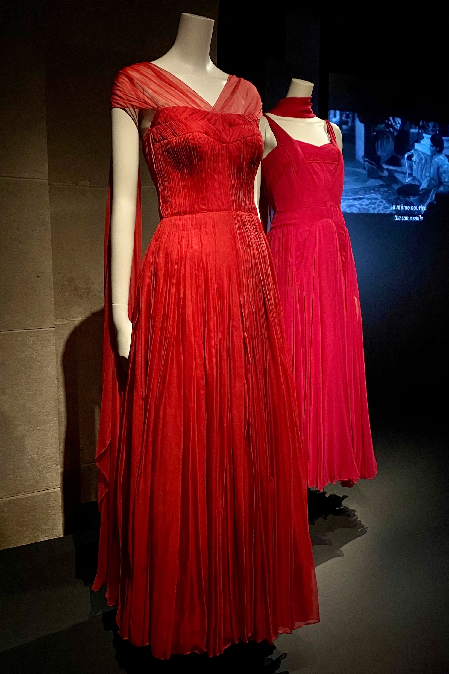 red dresses Gabrielle Chanel Fashion Manifesto exhibit