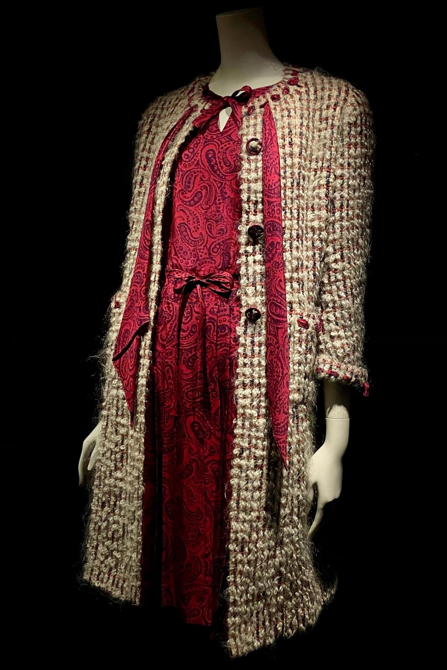 red paisley Gabrielle Chanel Fashion Manifesto exhibit