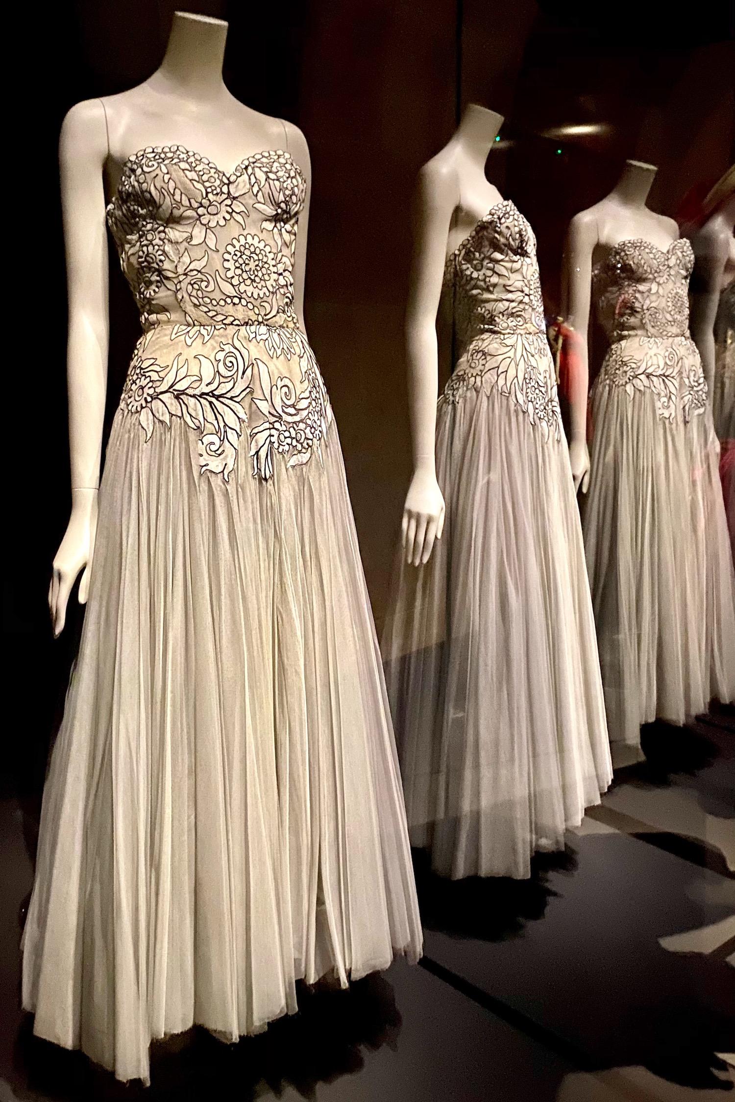 white gown Gabrielle Chanel Fashion Manifesto exhibit