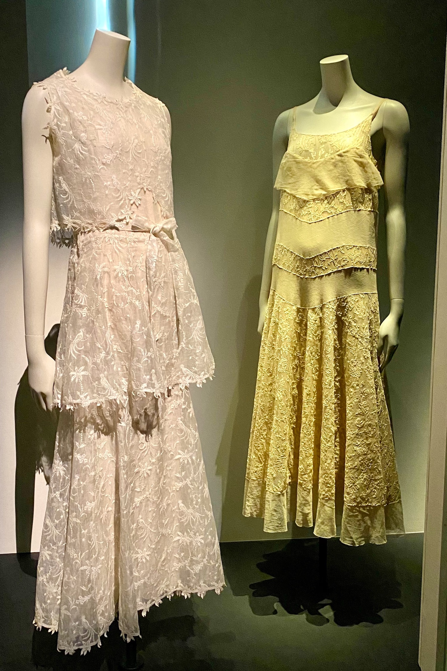 white and yellow dresses