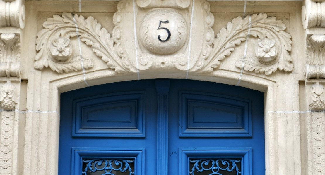 paris blue door