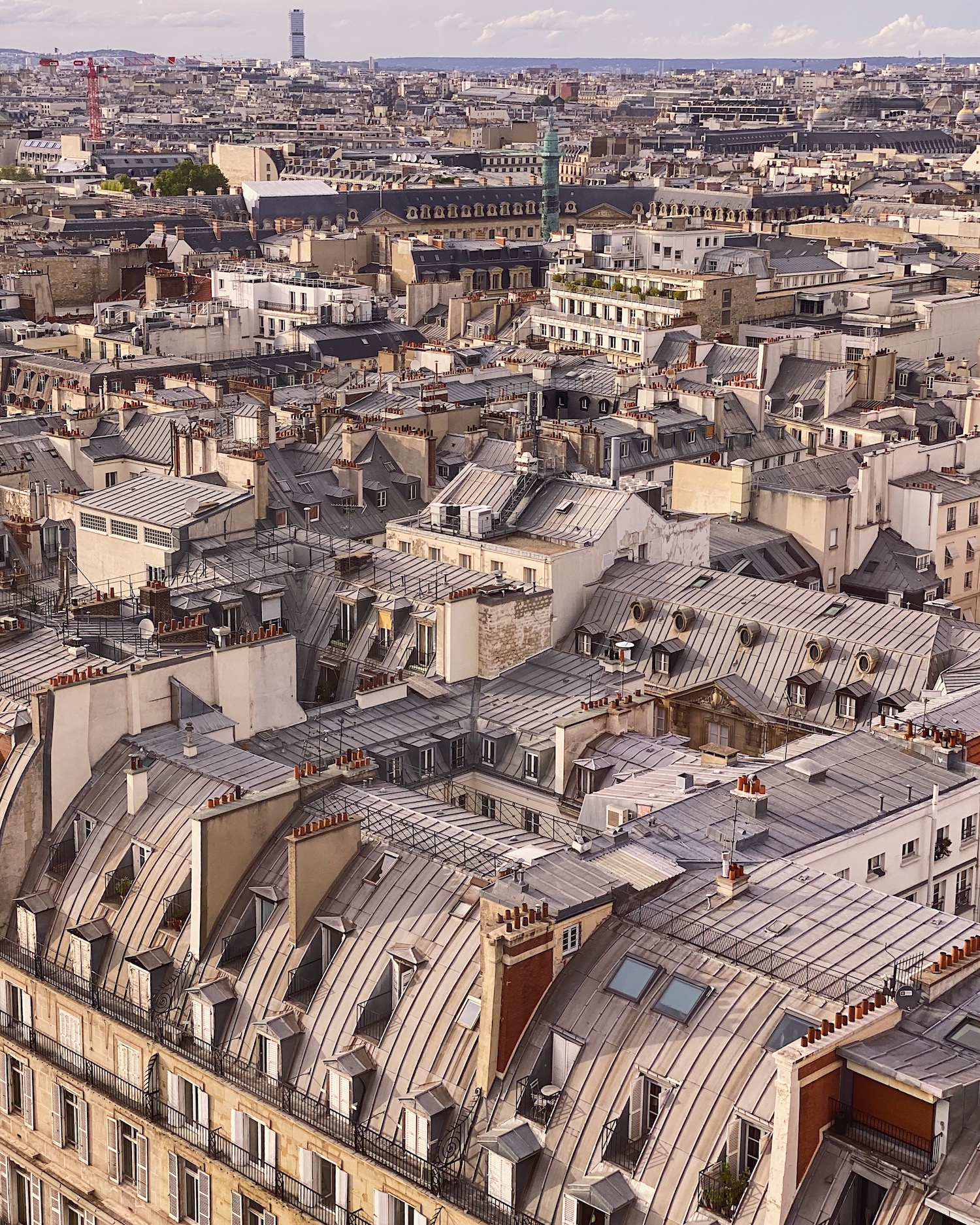 Parisian rooftops and pink masks for breast cancer awareness month