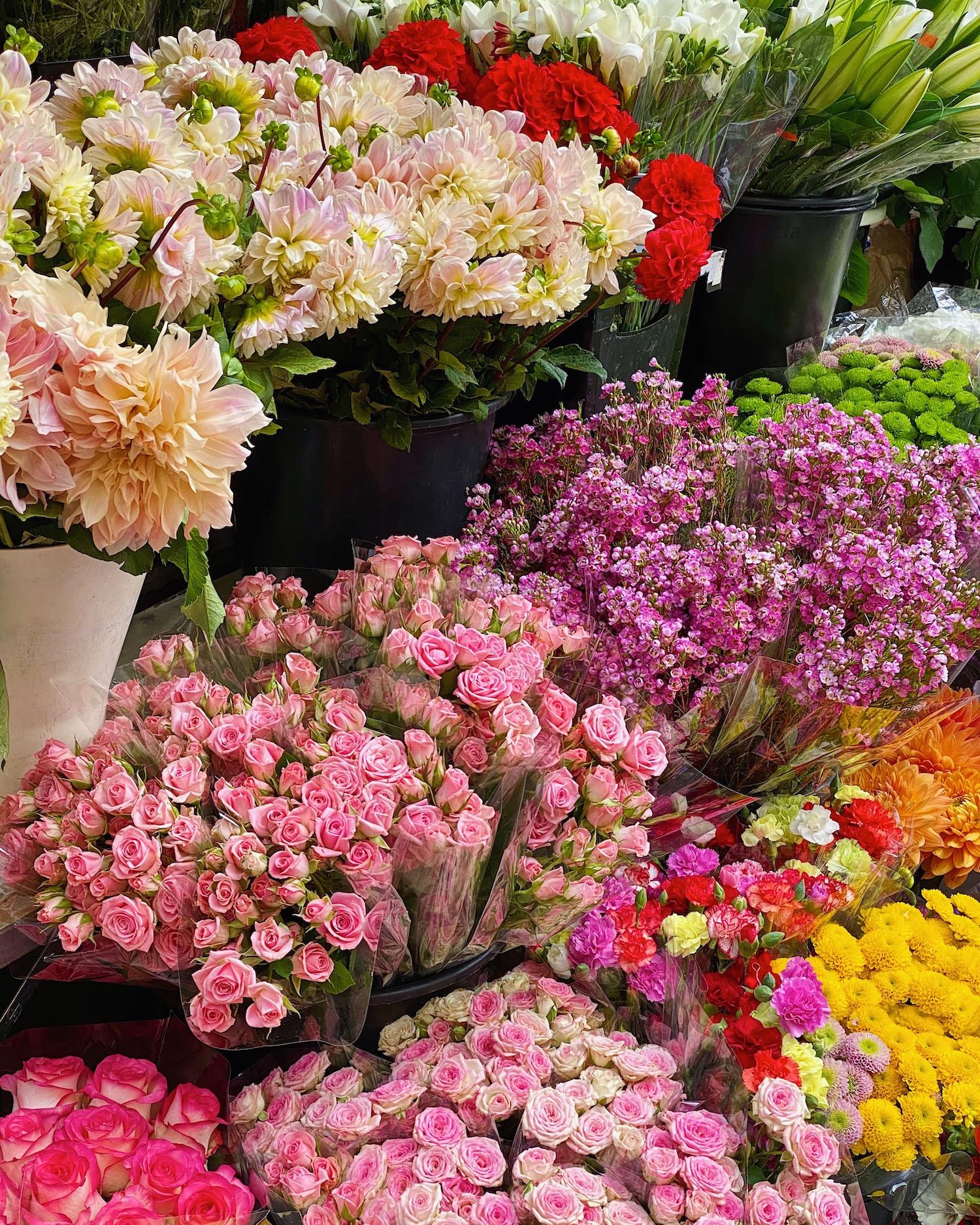 Emily in Paris vs. Paris with Landen parisian flower shop rue du bac
