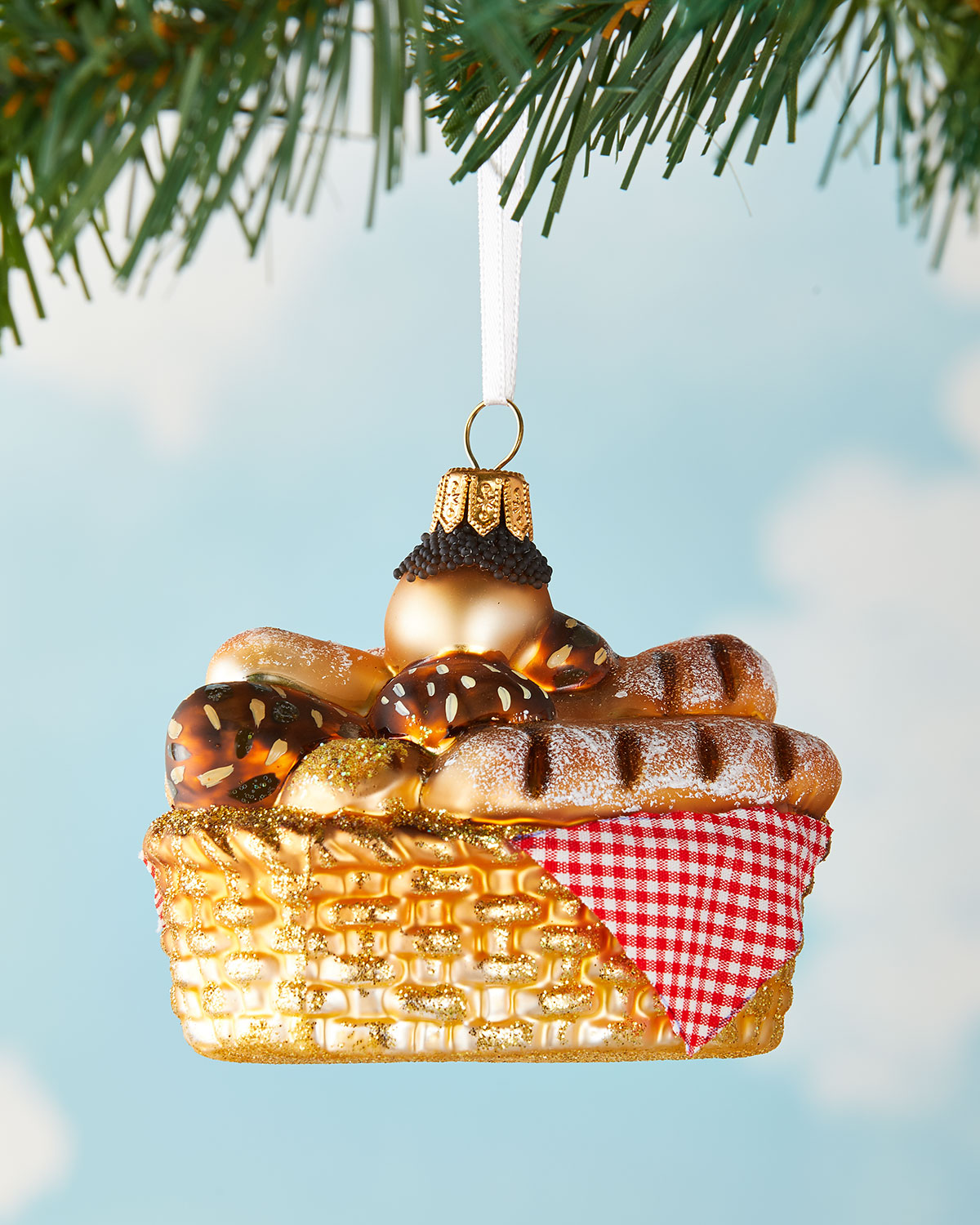 bread basket french christmas ornament