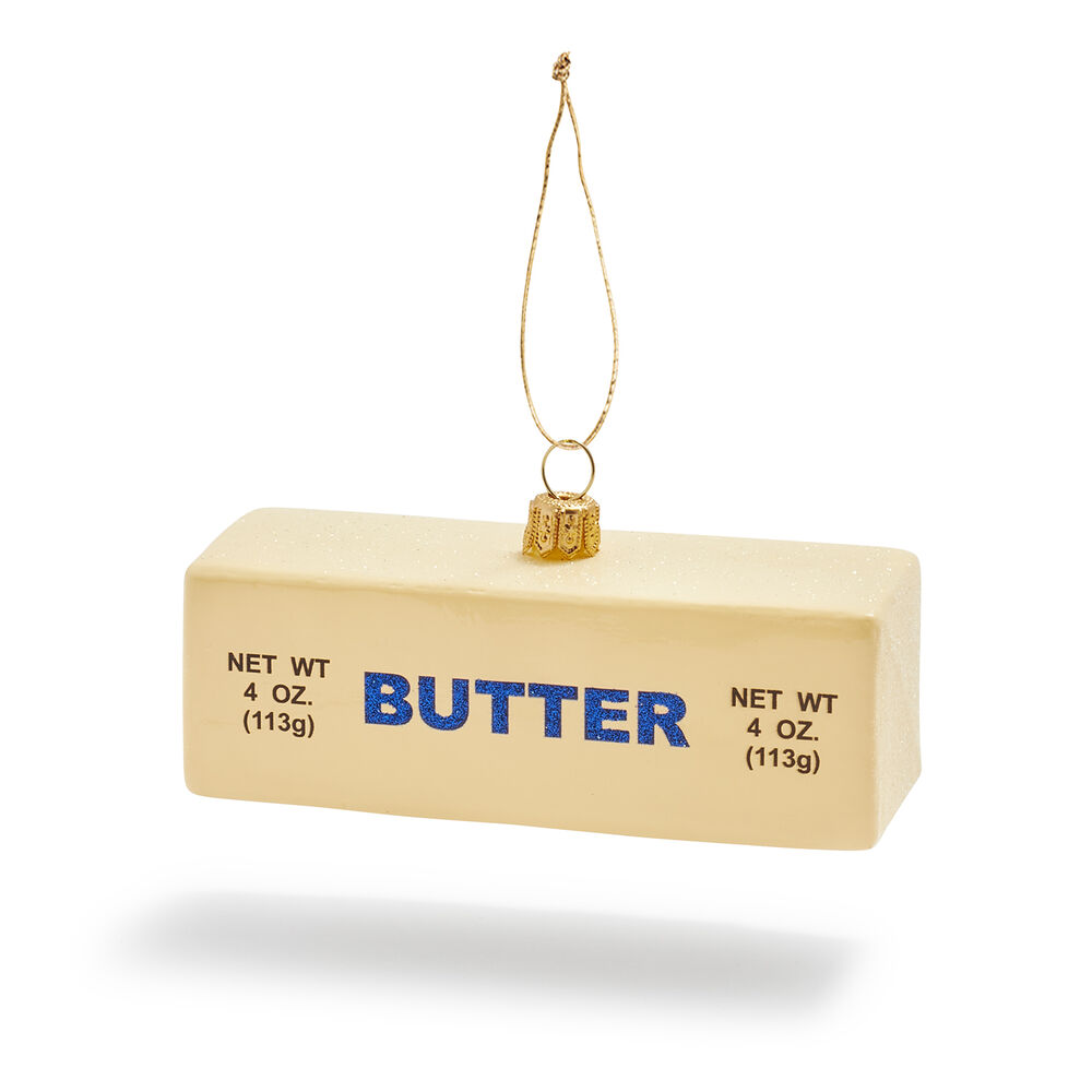 butter christmas ornament