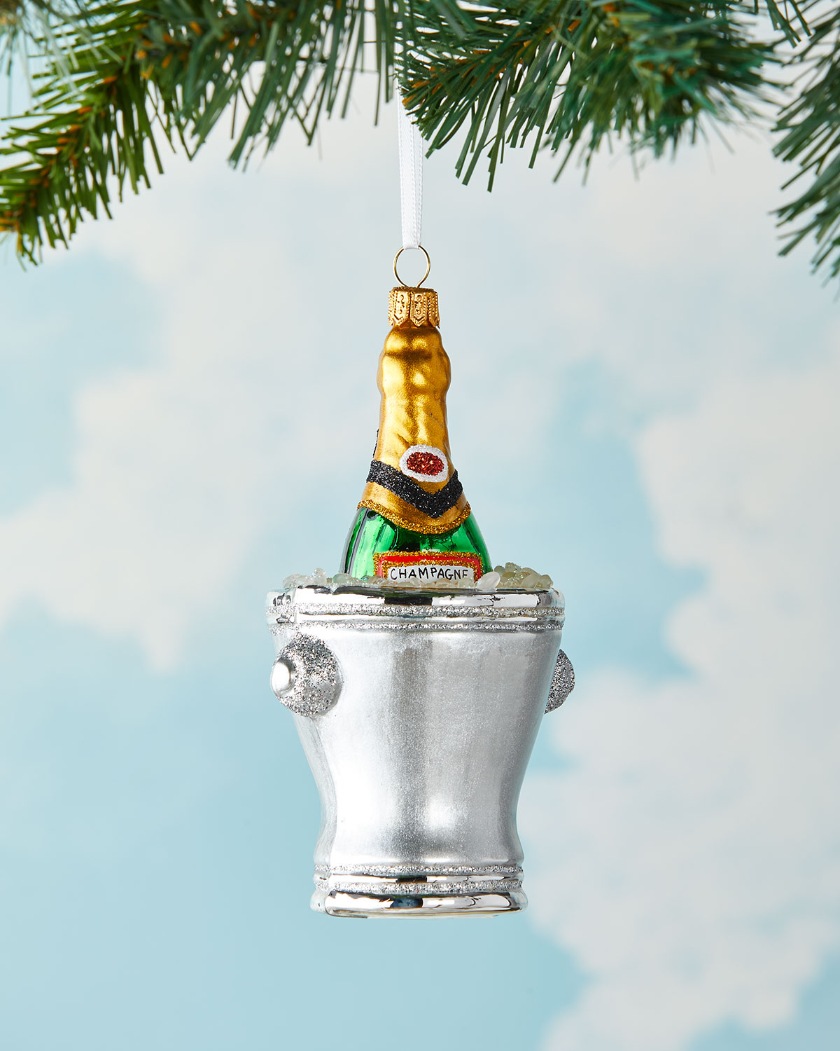 2021 champagne bucket ornament