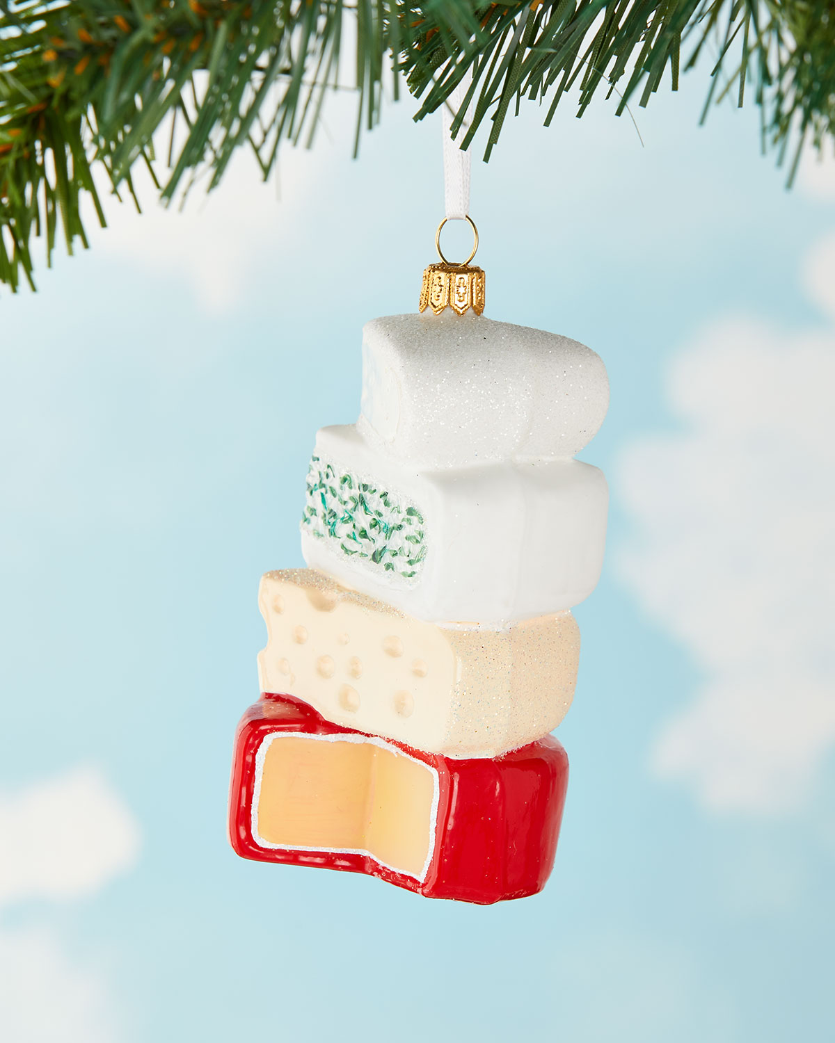 cheese stack christmas ornament