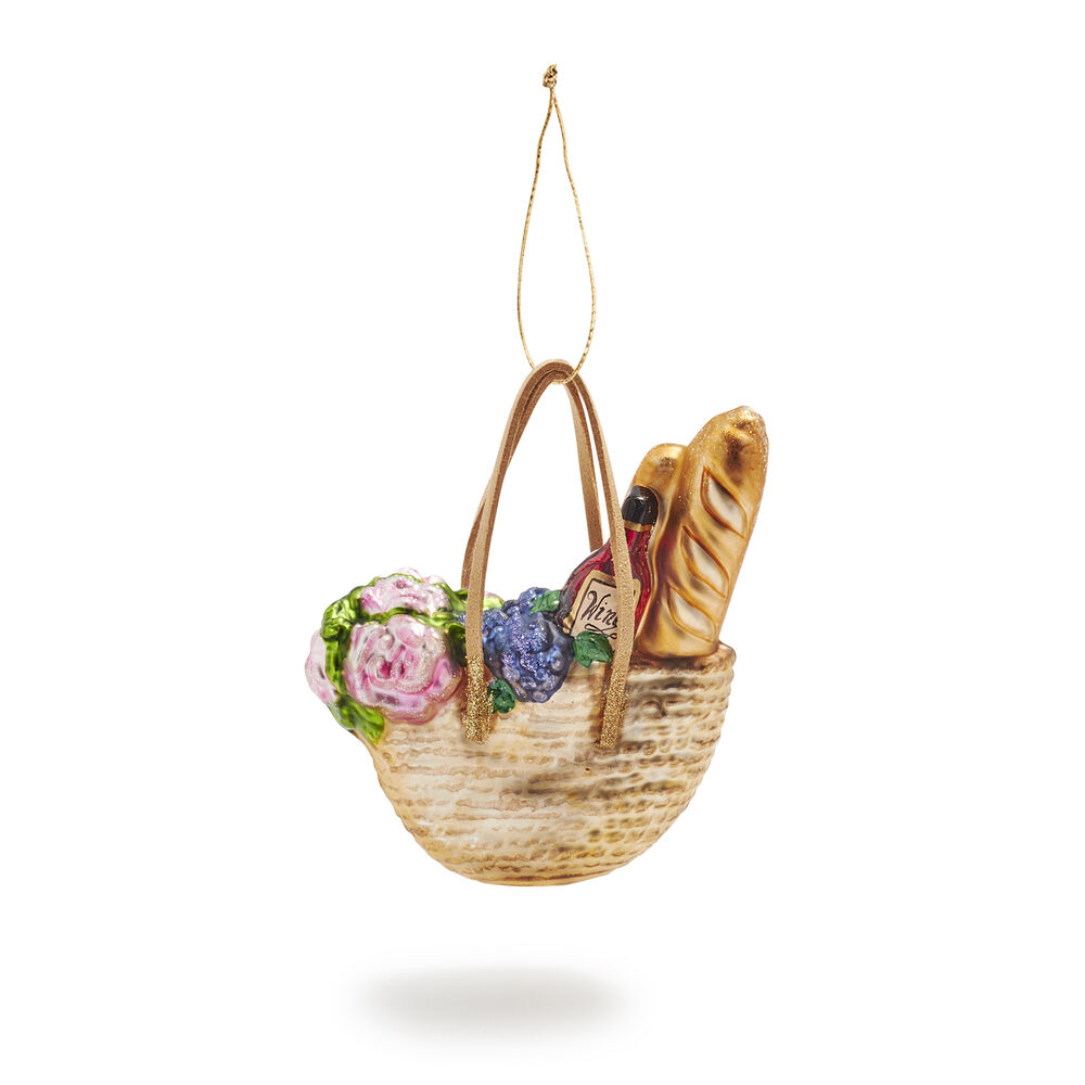 French market basket christmas ornament