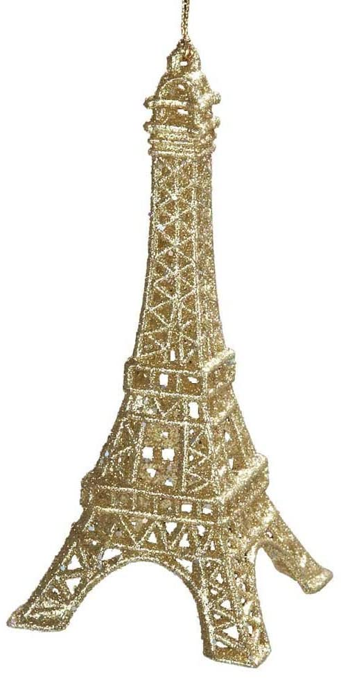 gold eiffel tower christmas ornament
