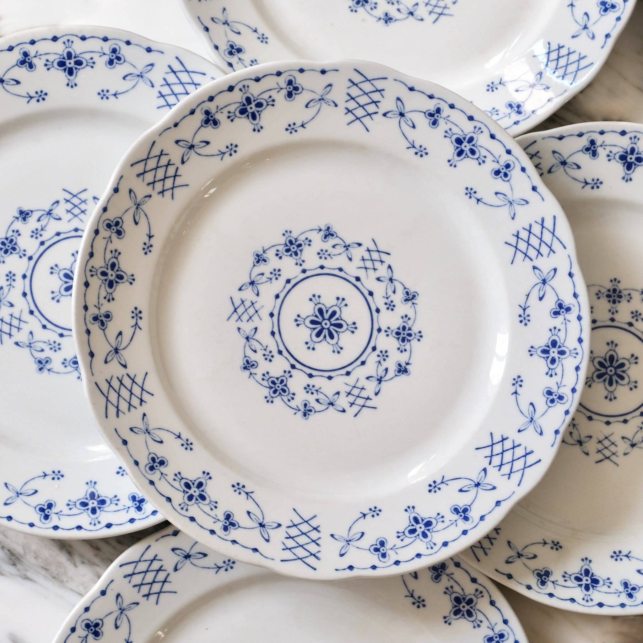 Francophile gift ideas blue and white dinner plates