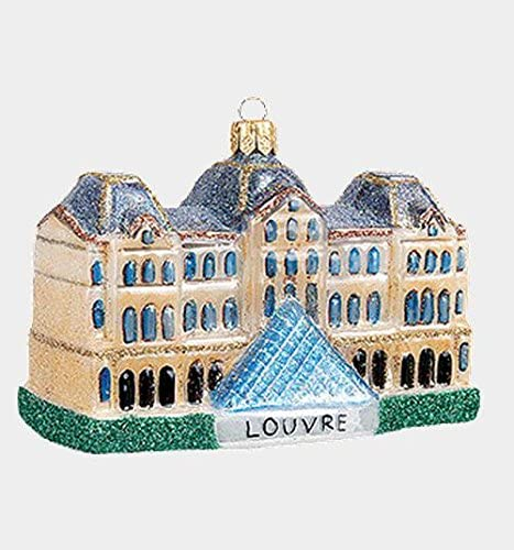 Louvre christmas ornament