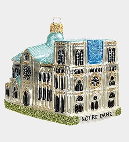 Notre Dame French Christmas Ornament