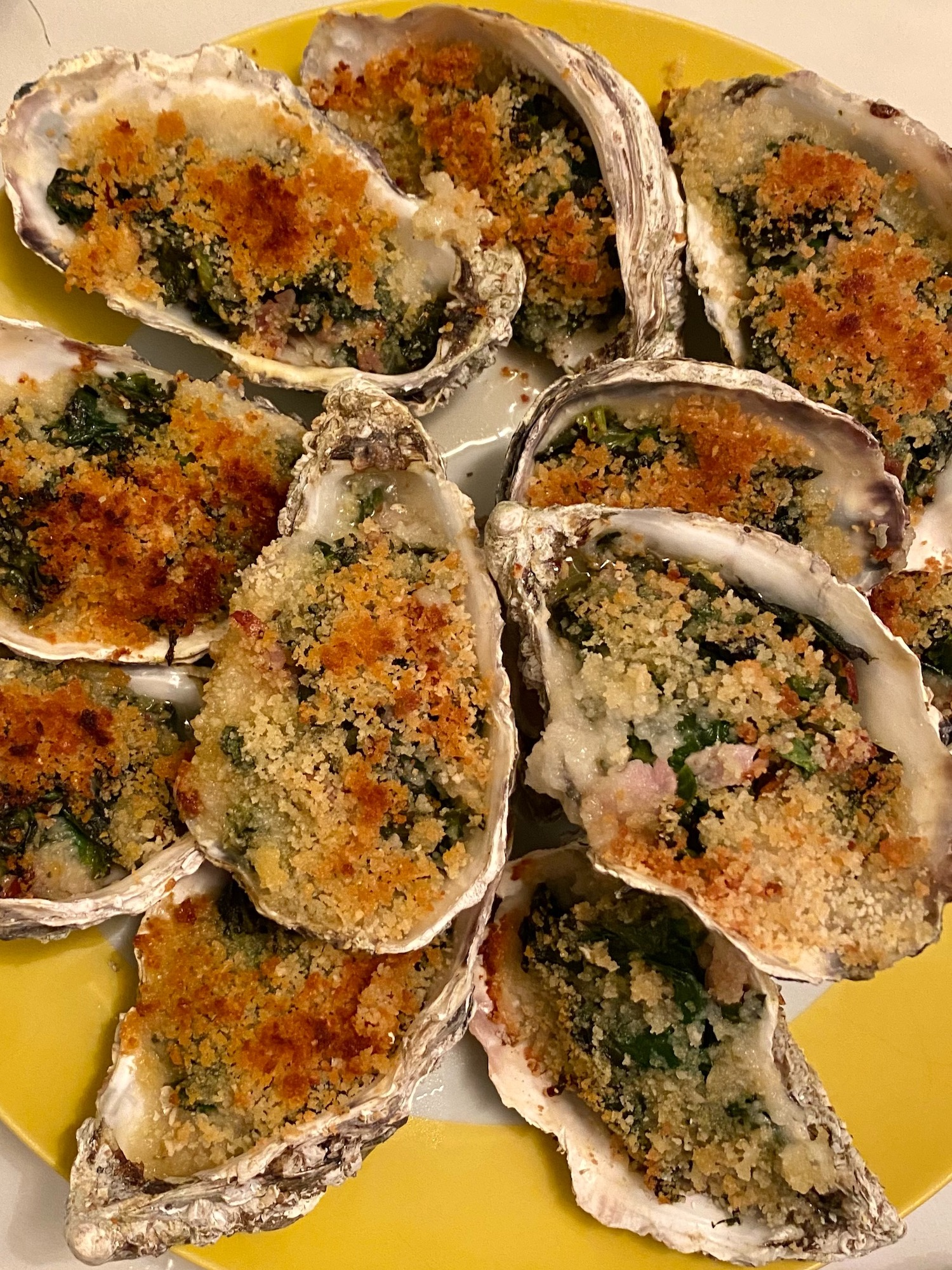 confinement 2.0 week two cooking oysters rockefeller