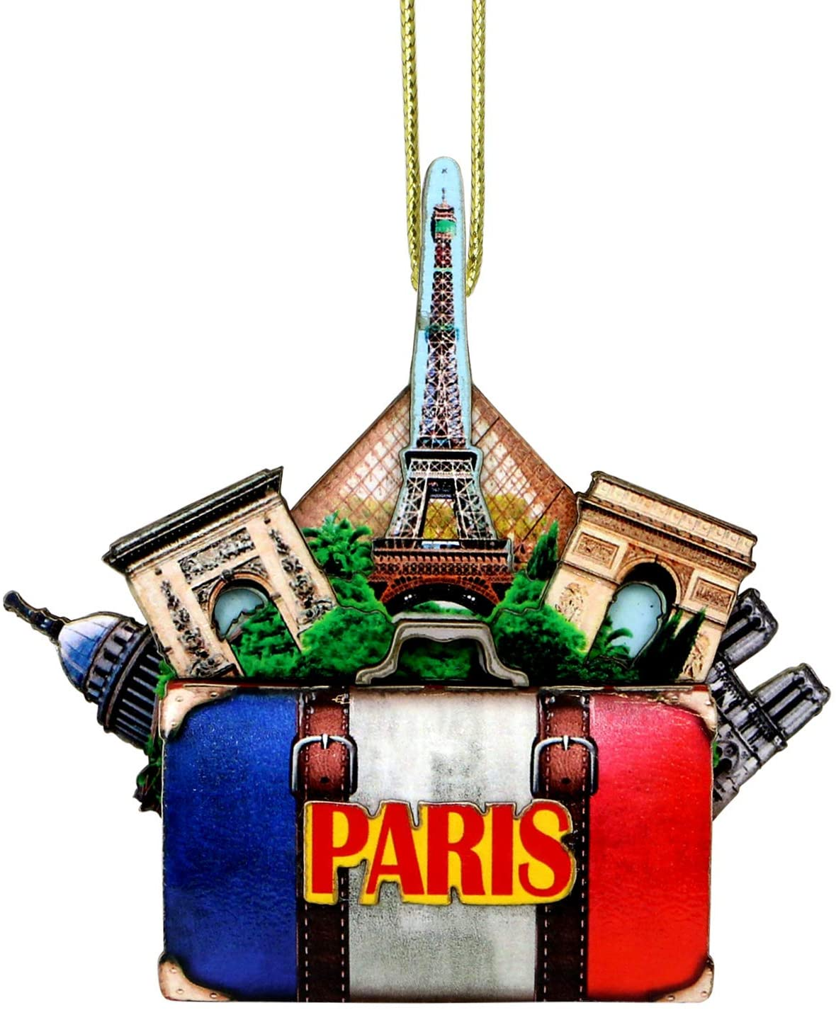 Paris suitcase monument ornament