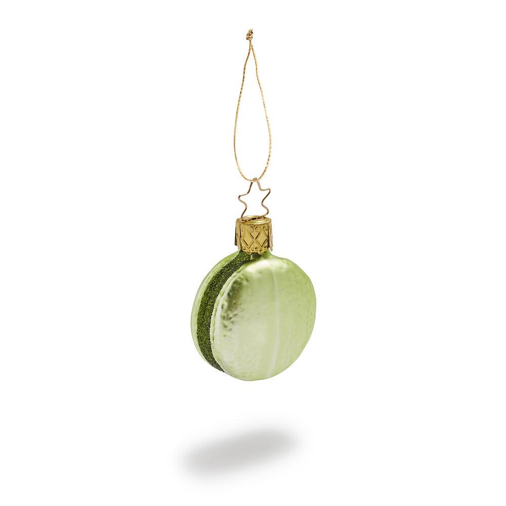 pistachio macaron christmas ornament