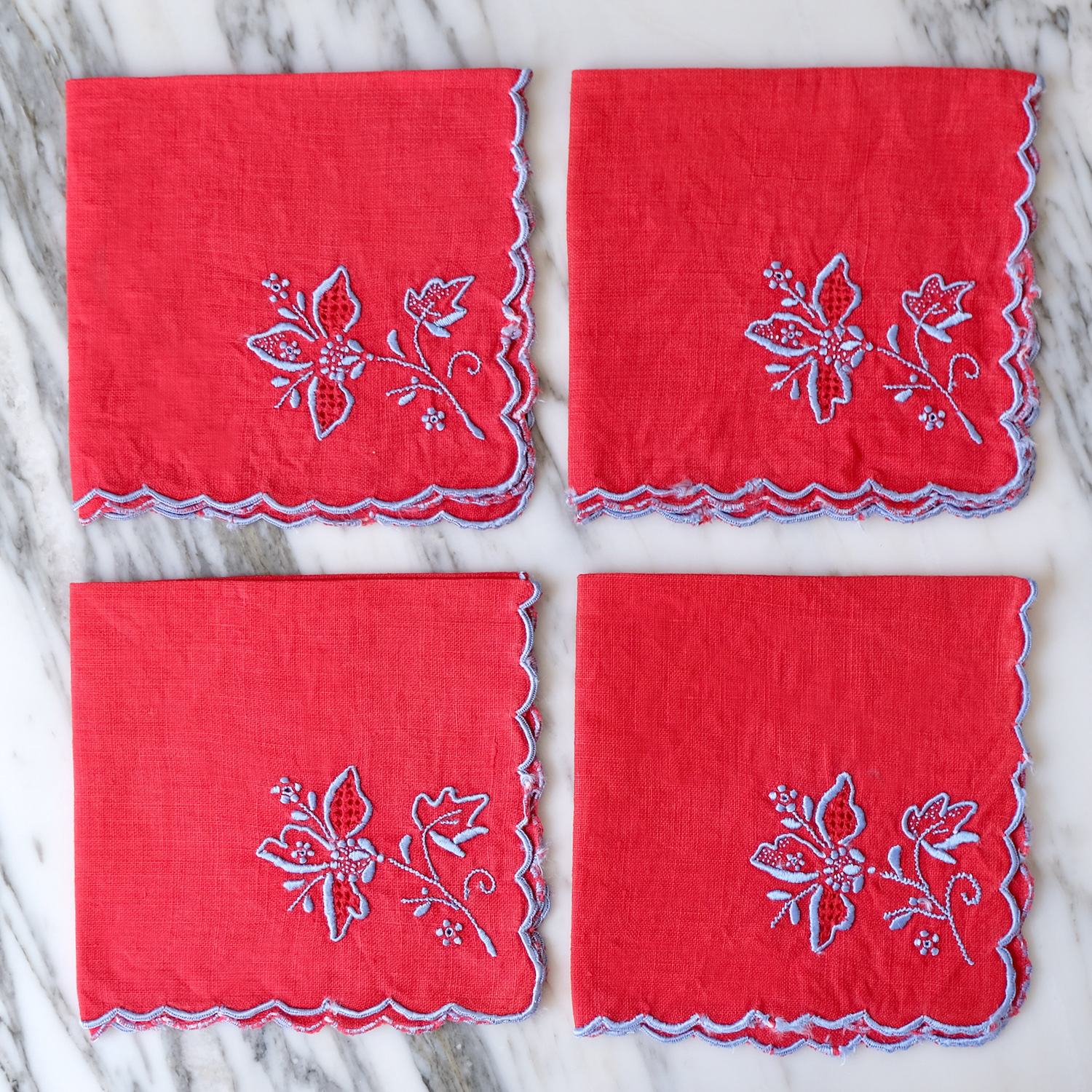 Red Cocktail Napkins