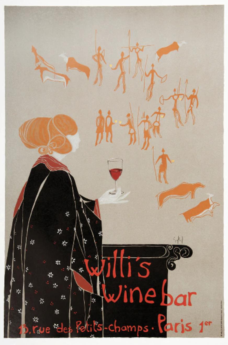Francophile Gift Ideas Willi's Wine bar bottle art