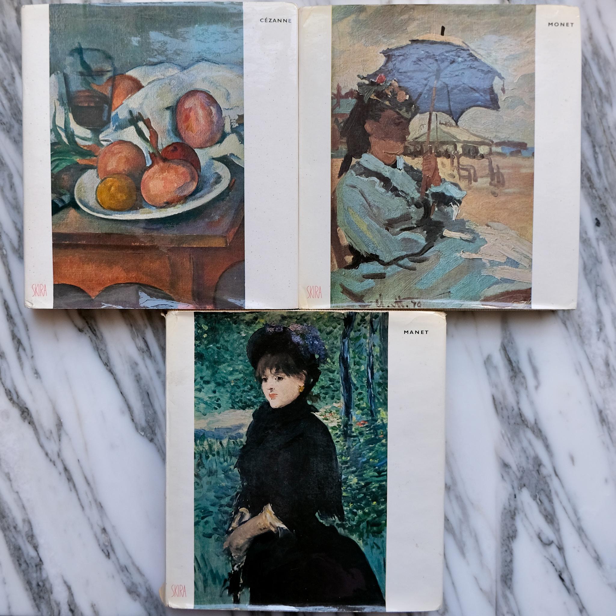 second bouquinistes auction Set of Cézanne, Manet, and Monet Books