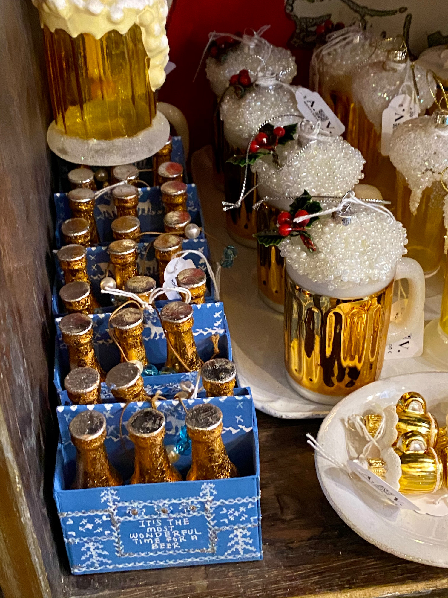 beer christmas ornaments