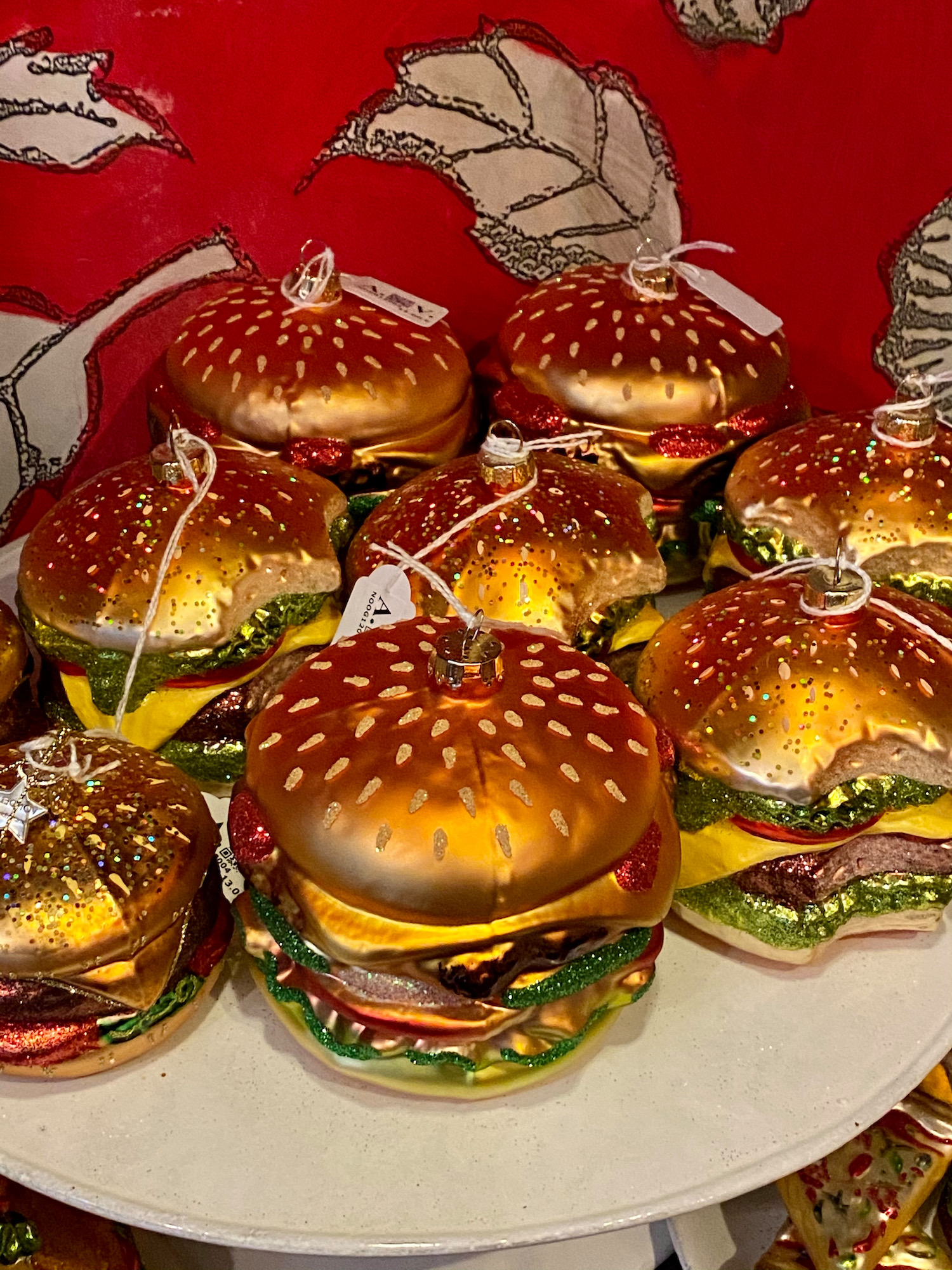 burger christmas ornament