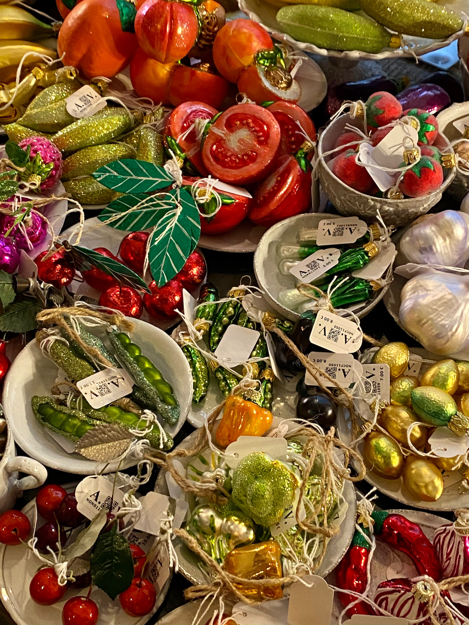 fruit and vegetable christmas ornaments