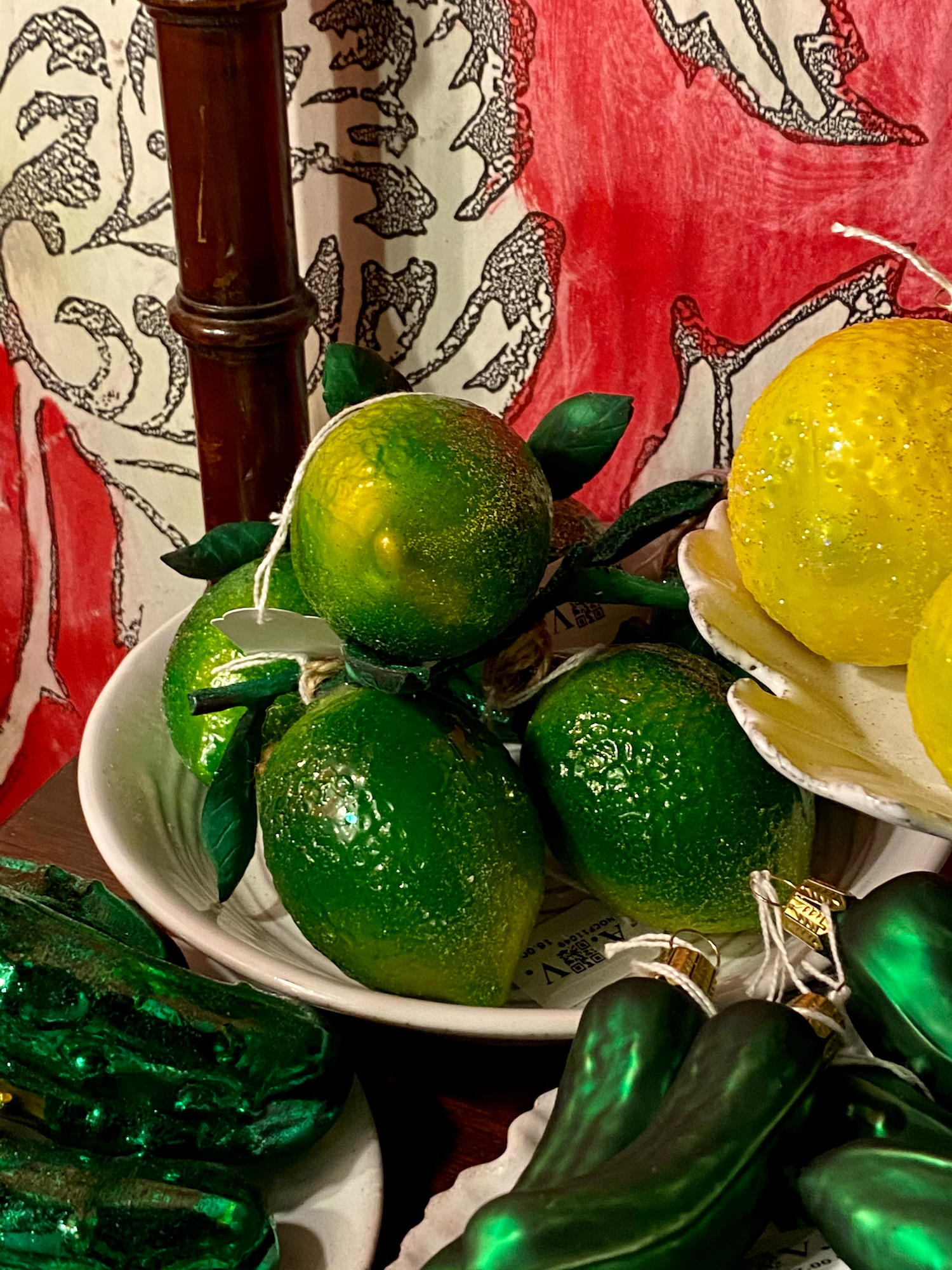 lime christmas ornament