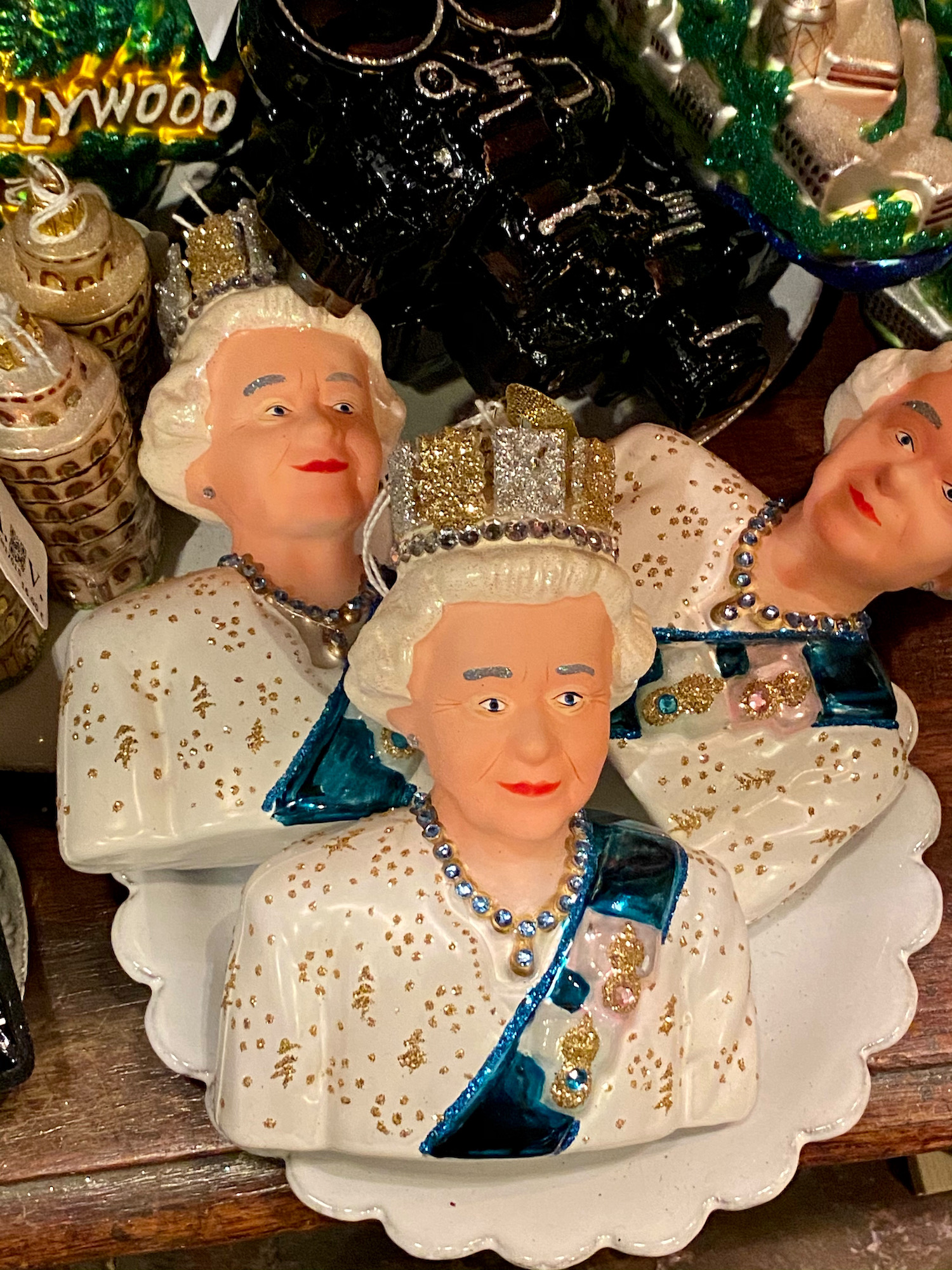 queen elizabeth christmas ornaments
