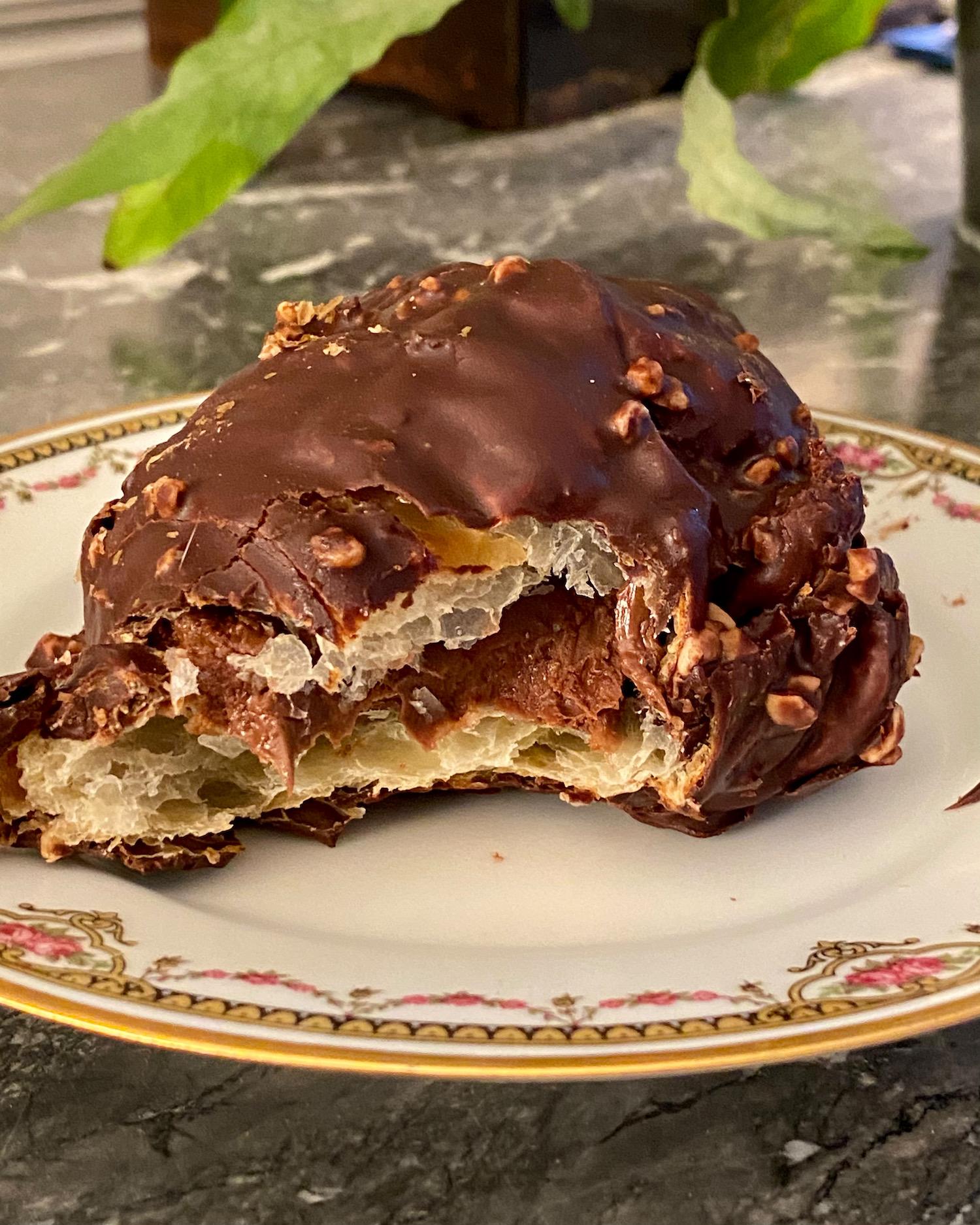 chocolate croissant chez meunier