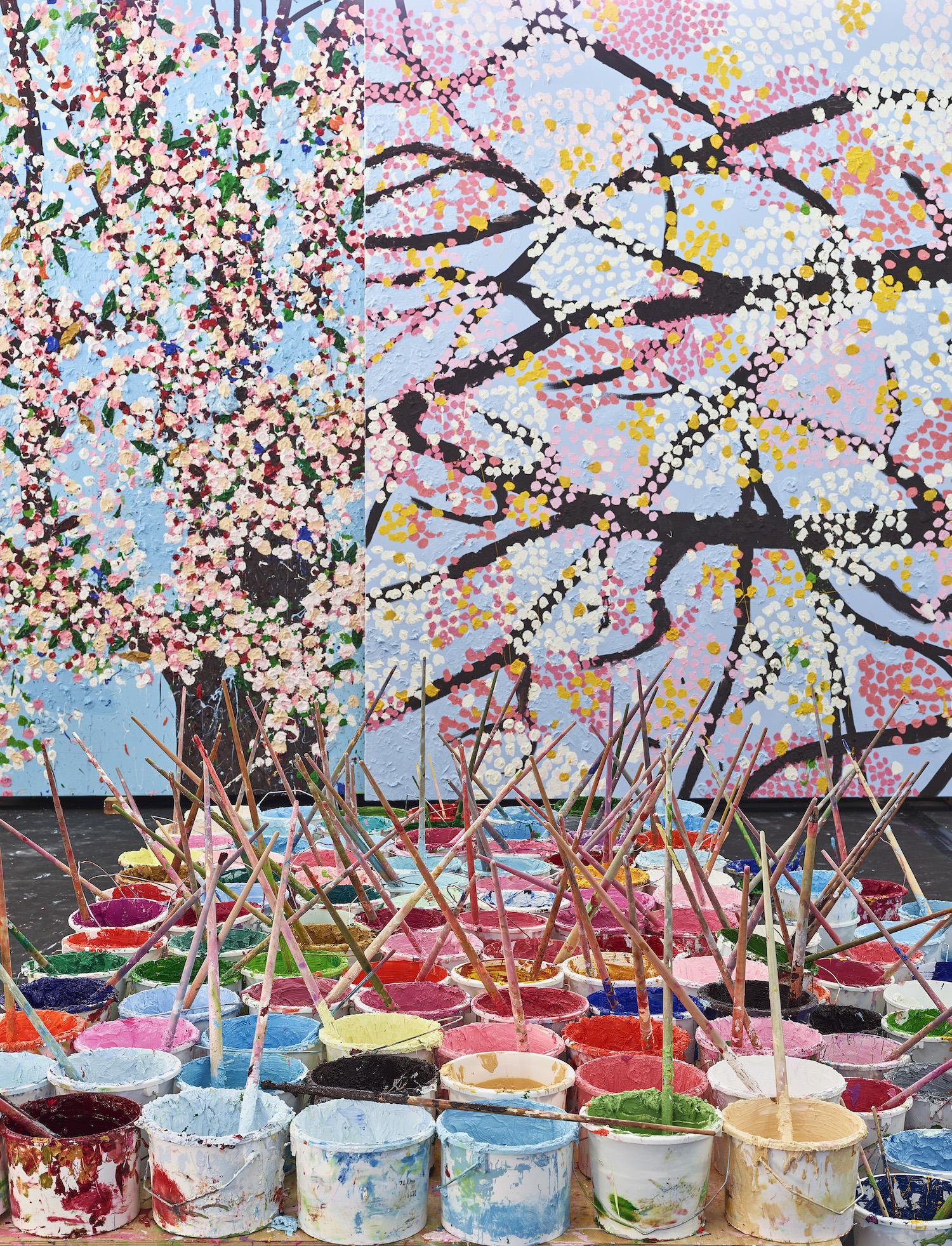 damien hirst cherry blossoms exhibit