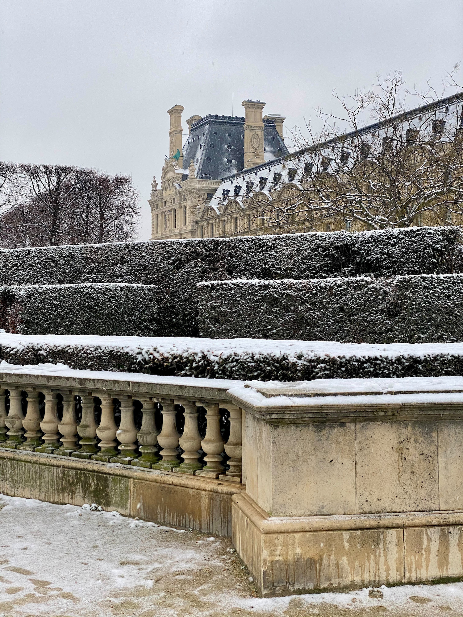 snow on the louvre