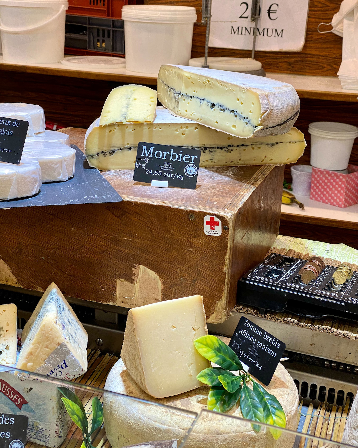 morbier cheese at the montrouge market