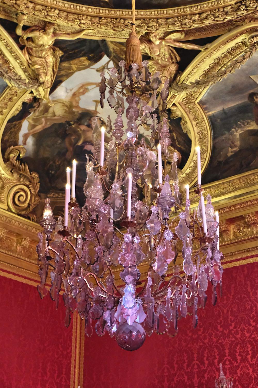 purple chandelier chateau de versailles