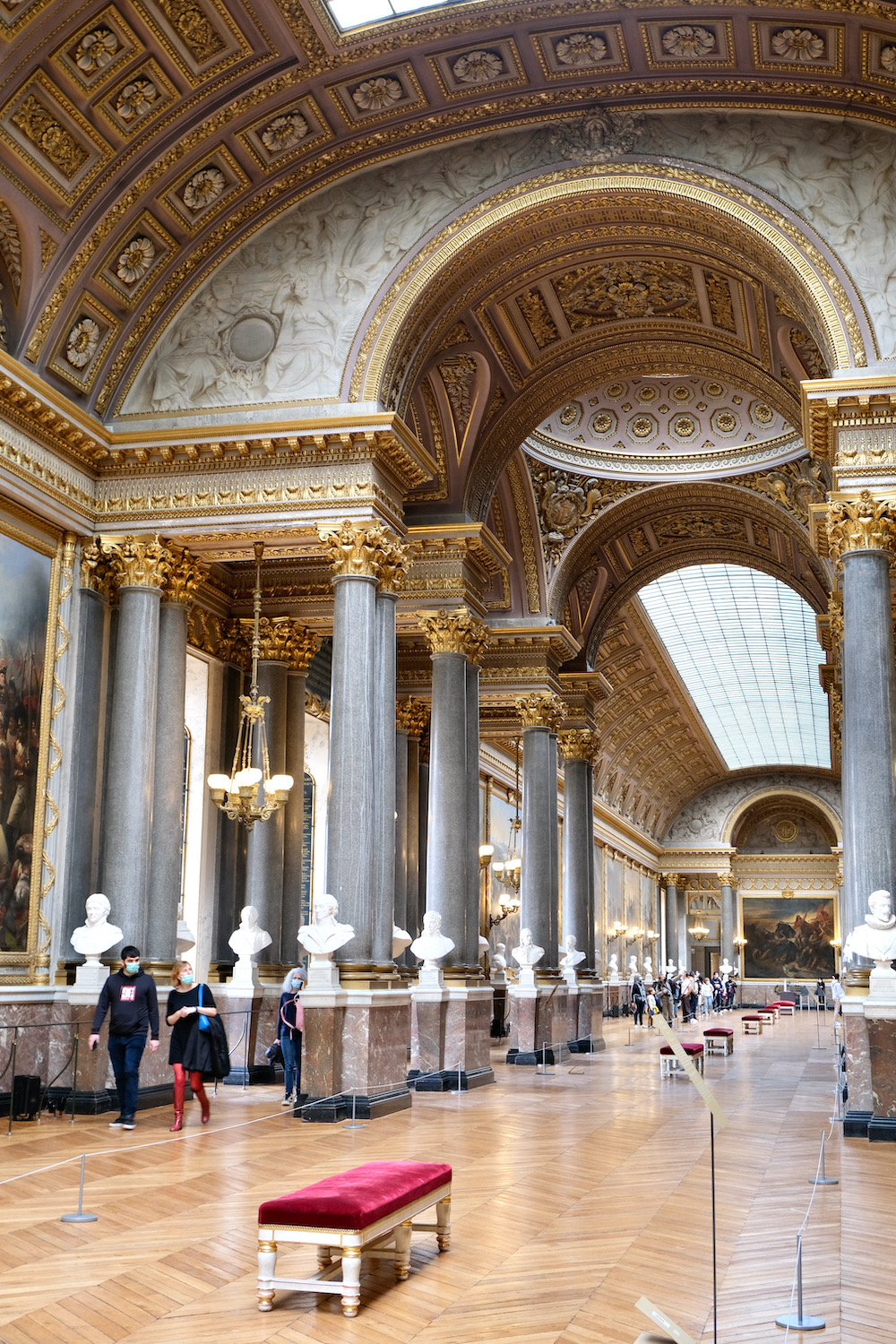 La Galerie des Batailles is the biggest gallery in the Château