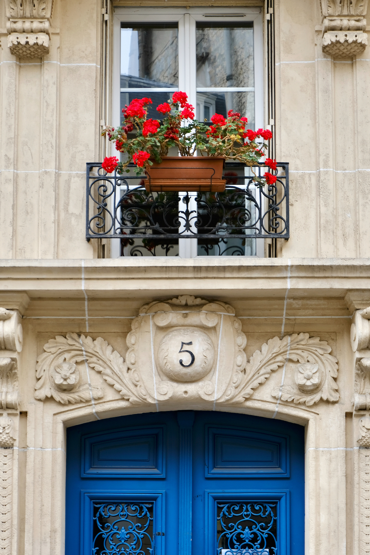 blue door no. 5 paris print