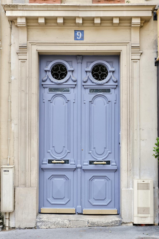 periwinkle blue door paris print