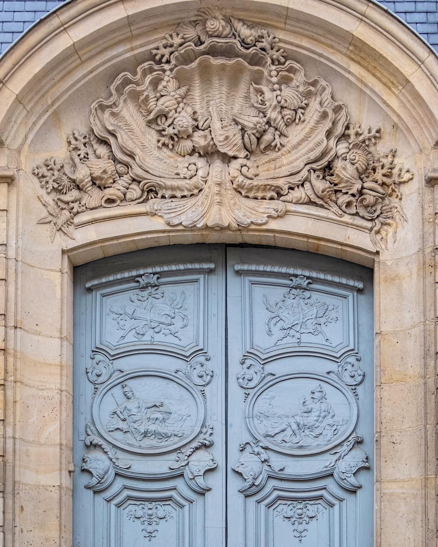 left bank blue door paris
